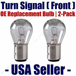 Front Turn Signal/Blinker Light Bulb 2pk Fits Listed Mercedes-Benz Vehicles 7528