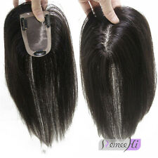 Cover gray hair hairpiece men women top human toupee hair piece topper 15cm~40cm