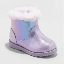 Toddler Girls' Oriole Fleece Ankle Fashion Boots - Cat & Jack purple/Oriole