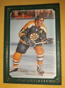 PHIL ESPOSITO 2008-09 UD MASTERPIECES GREEN # 83 BOSTON BRUINS 99 MADE MINT