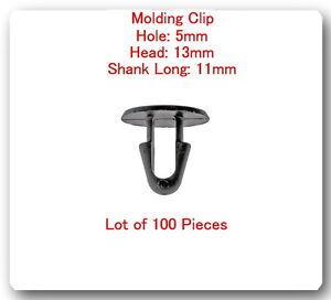 (Lot 100 Pc) Multi Purpose Molding Clip Retainer 90467-08004 Fits:Scion & Toyota