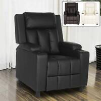 LEATHER RECLINER CHAIR SOFA LOUNGE GAMING HOME ARMCHAIR  RECLINING CHAIR