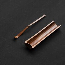 Natural Bamboo Cha He Tea Presentation Vessel & Scoop Set