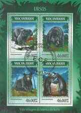 Timbres Animaux Ours Mozambique 6007/10 o année 2014 lot 10587 - cote : 17 €