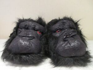 NEVER WORN LOUNGEABLE BLACK GORILLA SLIPPERS SIZE UK 11-12 LARGE MENS (S)