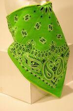 Lime Green Prospector Recreational Fleece Lined Bandana motorcycle face mask