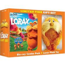 Dr. Seuss' The Lorax (Blu-ray/DVD, 2-Disc Set,Digital Copy) with Plush toy