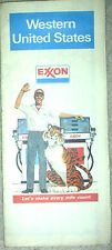1980 EXXON WESTERN US VINTAGE ROAD MAP