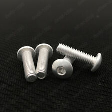 M3 M4 M5 M6 Aluminum Alloy 6063 Allen Bolt Hex Socket Button Head Screw ISO7380