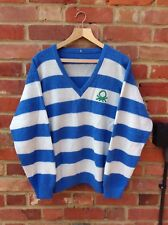 VERY RARE VINTAGE BENETTON JUMPER SIZE XL WOOL CASUALS POLO RUGBY SHIRT BLUE 80s