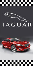 JAGUAR AUTO DEALER VERTICAL AVENUE POLE BANNER SIGNS