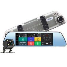 "7"" HD Auto DVR  Rückspiegel Dual Lens Android Dashcam Navi GPS Kamera WIFI 3G"