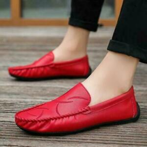 Fashion Mens Moccasins Slip on Loafers Breathable casual Comfy Driving Shoes new
