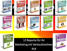 $$$12 Reporte Ebooks in deutsch mit PLR Lizenz$$$