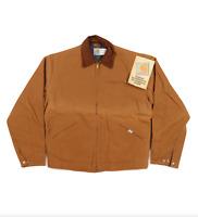 NOS Vtg 90s Carhartt Mens 44 Tall Blanket Lined Detroit Jacket Duck Brown USA
