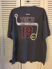 NHL Chicago Blackhawks Jonathan Toews  Reebok Name Number Team Logo T Shirt XL