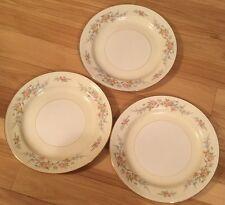 3 Homer Laughlin Eggshell Georgian Countess Dinner Plates O59n5 Roses Vintage