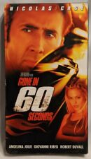 Gone in 60 Seconds (VHS, 2000) Nicholas Cage & Angelina Jolie