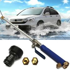 "18"" Aluminium High Pressure Power Car Washer Spray Nozzle Water Gun Hose w/Tips"
