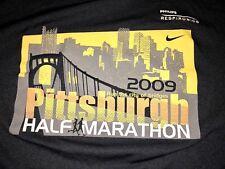 Men's M Medium Nike Fit Dry Black Running Shirt. 2009 Pittsburgh Half Marathon