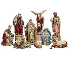 "NEW 12"" Large Colorful Royal Regal Nativity Scene Christmas Decoration 9723262"