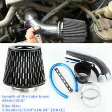 "Car Aluminum Alloy Air Intake Kit Pipe Diameter 3""+ Cold Air Filter+Clamp + Hose"