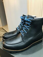 New MEN'S UGG AGNAR 1017288 M/BLACK LEATHER WINTER WATERPROOF BOOTS