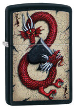 ZIPPO LIGHTER BLACK MATTE RED DRAGON (99367) GIFT BOXED - AU STOCK !