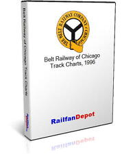 Belt Railway of Chicago Track Chart and Tonnage - PDF on CD - RailfanDepot