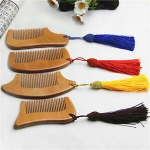 Wooden Comb Teeth Anti-static Massage Hair Care Comb Tool With Tassel LP