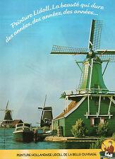 Publicité 1989  Peinture Hollandaise LIDOLL