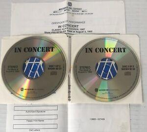 ALICE COOPER Westwood One In Concert RADIO SHOW CD #92-32 LIVE Cincinnati 1987