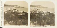 FRANCE Nice Les Jardins et Le Mont Boron Photo Stereo Vintage Argentique PL62L11