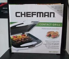 Chefman Compact New Non-Stick Contact surface Dual grill plates Grill White