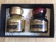 Stuart Houghton Calligraphy Ink Box Set Of 2 Bottles 1 Black And 1 Gold New