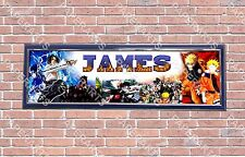 Personalized Customized Naruto Name Banner Wall Decor Poster with Frame