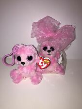 TY PRINCESS POODLE BEANIE BOOS KEY CLIPIN CELLO-NEW, RED, MINT TAG, RETIRED*CUTE