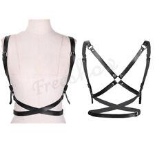 Women PU Leather Body Harness Belt Buckle Halloween Clubwear Cosplay Costume