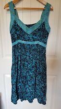 Maggie B Dress XLarge Floral Blue tie dye  sleeveless sundress knee length