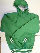 "NOS DA Athletic Baseball Warm up Jacket Hooded Medium 38""-40"" Chest Green White"