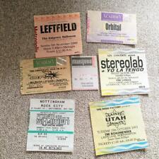 More details for 7 x indie dance gig tickets 1993 - 2009 joblot bundle orb orbital leftfield emf