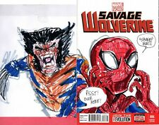 savage wolverine blank variant #1 rodrigues art sketch signed and dated