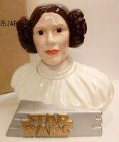 STAR WARS PRINCESS LEIA CERAMIC COOKIE JARS LIMITED EDITION 265/1000 NEW IN BOX