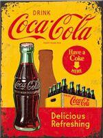 Coca Cola Yellow Crate metal fridge magnet (na)