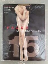 Falke ~ Seidenglatt 15, transparent, shining stockings, Golden New ~ size M
