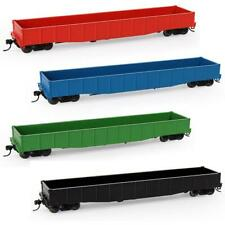 3pcs HO Scale 53ft Low-side Gondola Car 1:87 Railway Wagons Model Train