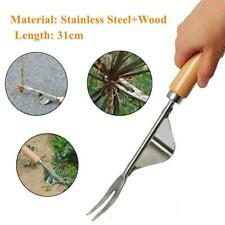 2x Manual Hand Weeder Weeding Weed Remover Puller Tools Fork Lawn Garden Tool