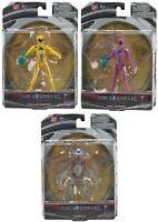 Job Lot of 3 x Power Rangers Movie 12.5cm Figures - Yellow, Pink & Alpha 5 - New
