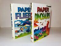 PAPER MAGIC: Paper Dinosaur/ Paper Fliers Interactive Activity Book Lot