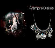 The Vampire Diaries: Bonnie, Elena, Antique Silver Multi Gem, 11 Charm Chain Set